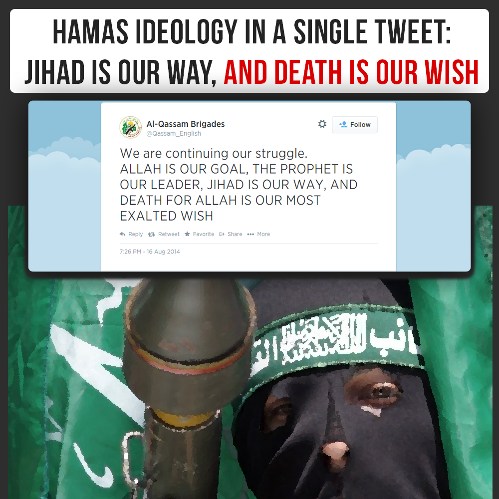 "Hamas tweets: ""Jihad is our way"""