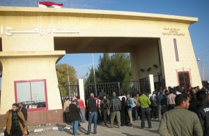 The Rafah border crossing between Egypt and Gaza, January 2009. (Source: International Transport Workers' Federation)